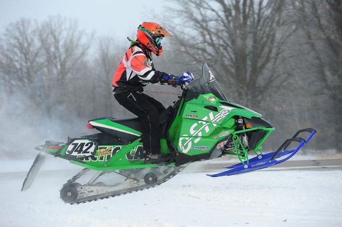 Team Arctic Cat's Ross Ilstrup wins the I-500 Jr. class