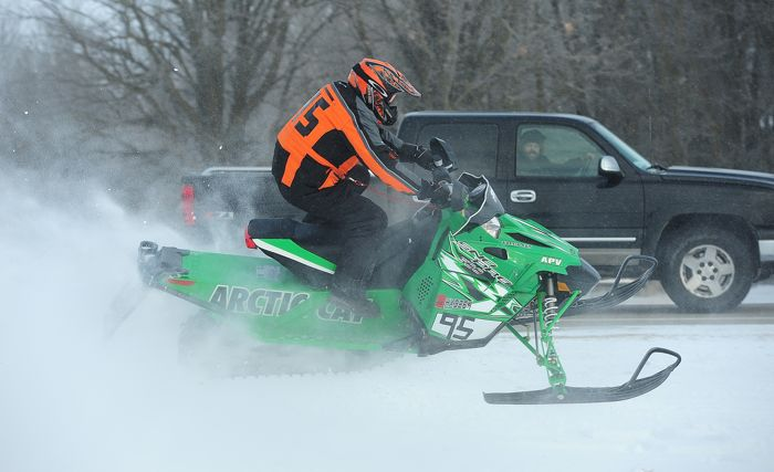 Arctic Cat ATV Engineer Mark Esala, racing the I-500. Photo: ArcticInsider.com