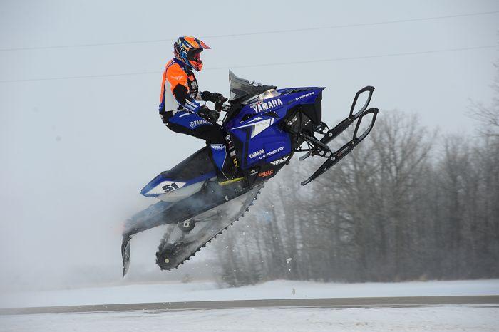 2014 USXC I-500 cross-country Matt Piche Yamaha crash. Photo by ArcticInsider.com