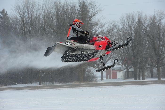 2014 USXC I-500 cross-country Spencer Kadlec Polaris crash. Photo by ArcticInsider.com