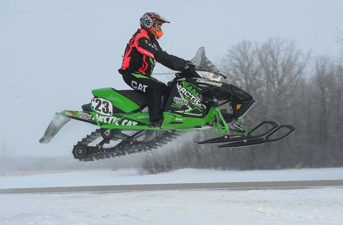Team Arctic Cat's Brian Dick wins the USXC I-500. Photo: ArcticInsider.com
