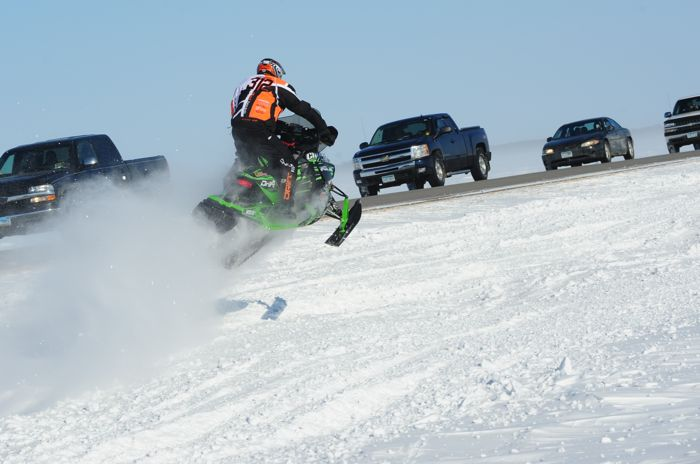 Team Arctic Cat/Christian Bros. Racing Zach Herfindahl wins Warroad. Photo: ArcticInsider.com