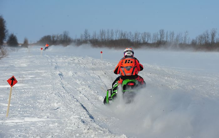 Team Arctic's Wes Selby finished 3rd at the USXC in Warroad. Photo: ArcticInsider.com