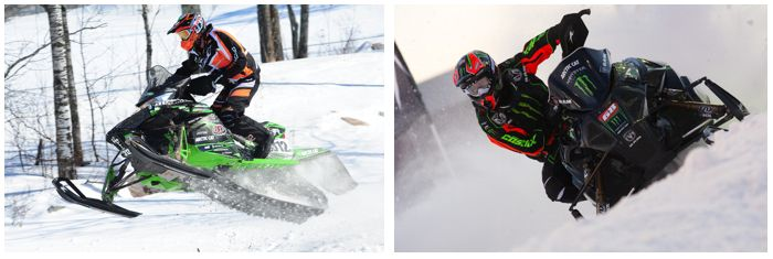 Team Arctic Cat's Tucker Hibbert and Zach Herfindahl
