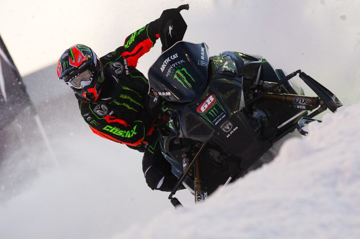 Monster Energy/Team Arctic Cat racer Tucker Hibbert. Photo by Hanson