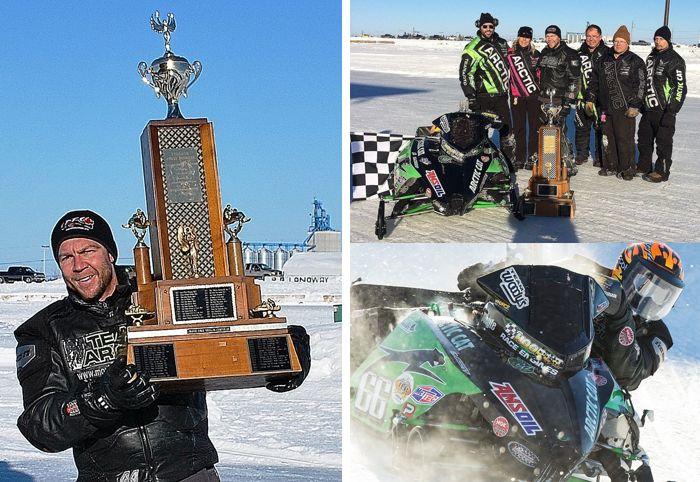 Team Arctic Cat oval champ Gary Moyle and team