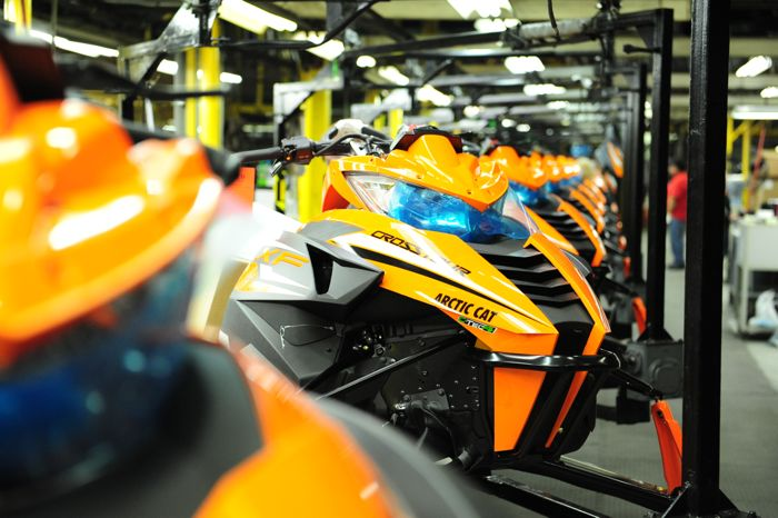 2015 Arctic Cat CrossTours on the assembly line. Photo by ArcticInsider.com