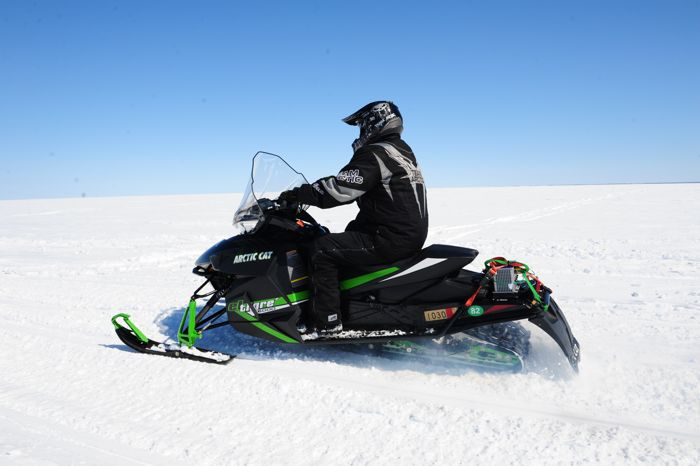 Arctic Cat snowmobile engineering in April. Photo by ArcticInsider.com