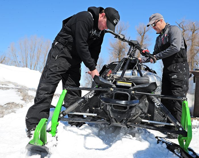 Arctic Cat's Gary Homme & Kevin Thompson. Photo: Arcticinsider.com
