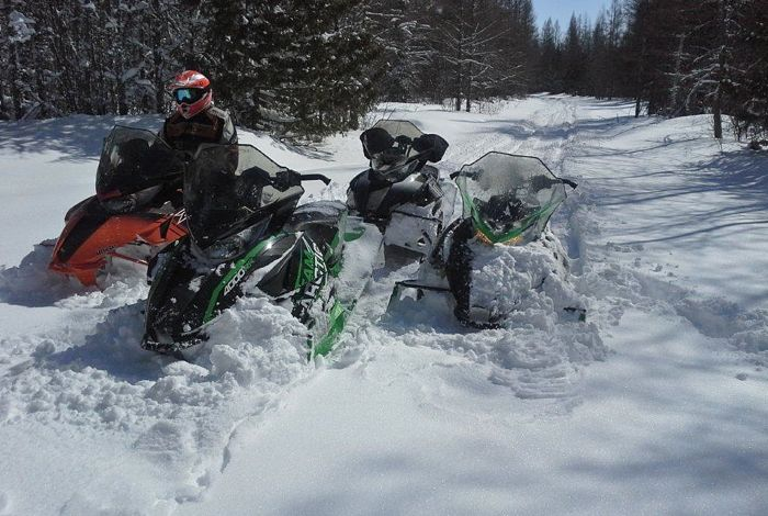 Arctic Cat snowmobile engineering in April.