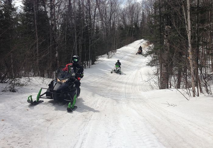 April 9, 2014 snowmobile ride on the Minn. North Shore. Photo by ArcticInsider.com