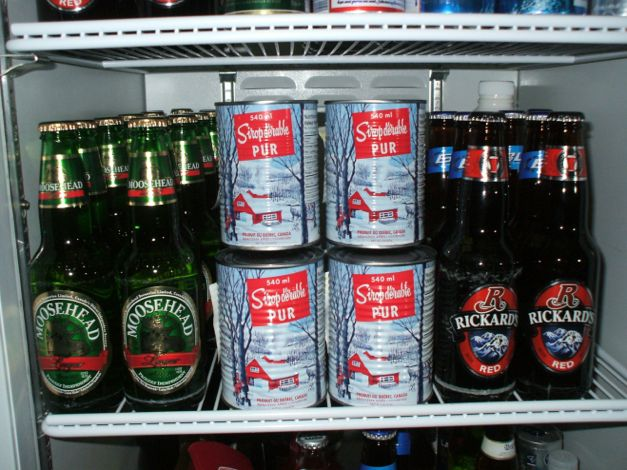 Hammer and LumberHead's fridge is well-stocked