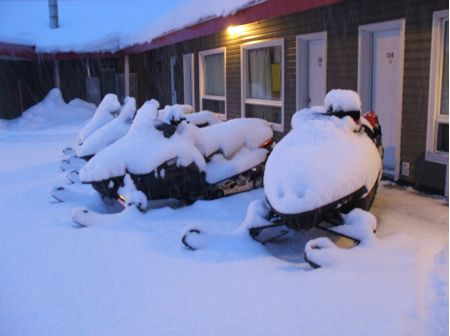Hammer & LumberHead eventually wake up to this snowmobile vision