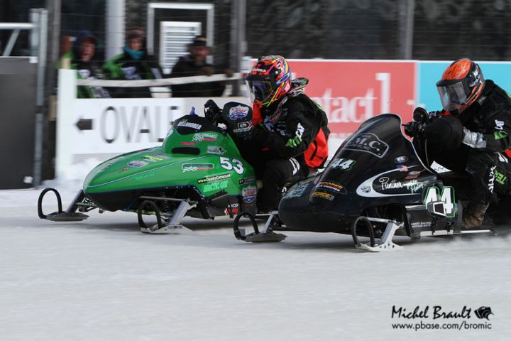 Team Arctic oval racers Colt Dellandrea & Mike Hakey. Photo by Michel Brault
