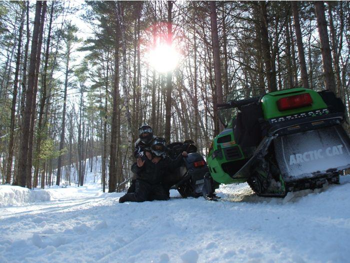 Hammer & the Mrs. enjoy a snowmobile sunset
