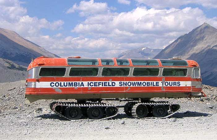 TGIF snowmobile tour bus columbia icefield