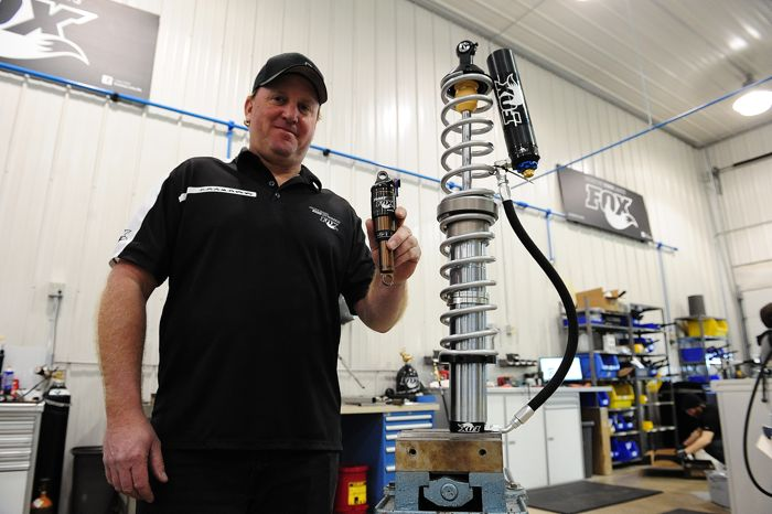 Inside of FOX SHOX Midwest Service Center. Photo by ArcticInsider.com