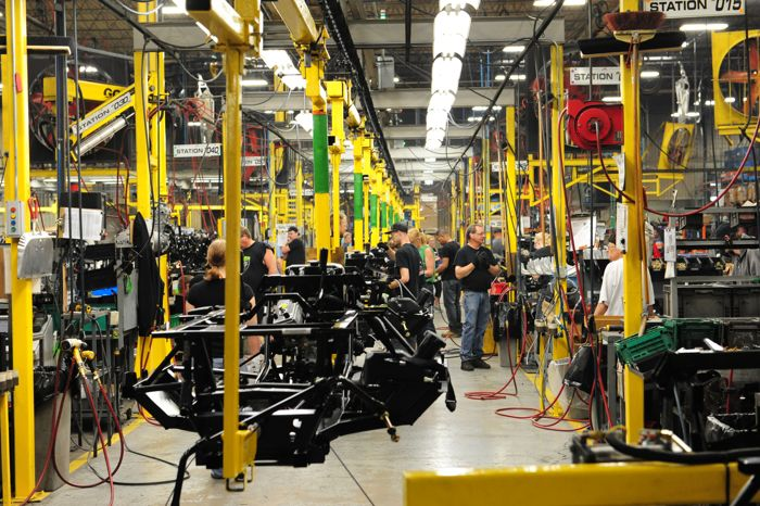 2015 Arctic Cat Wildcat Trail on the assembly line. Photo by ArcticInsider.com