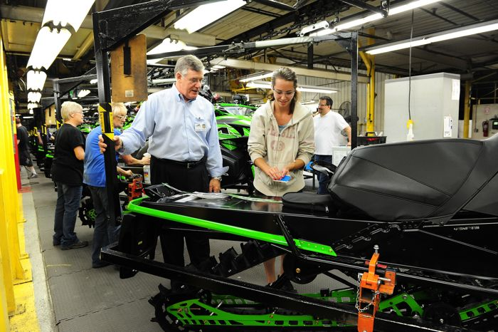 Arctic Cat President/CEO Chris Twomey inside the manufacturing plant. Photo: ArcticInsider.com