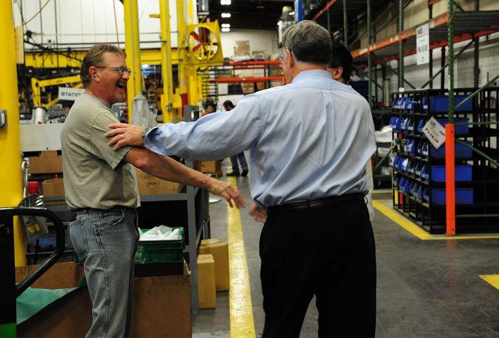 Arctic Cat President/CEO Chris Twomey inside the manufacturing plant. Photo: ArcticInsider.com