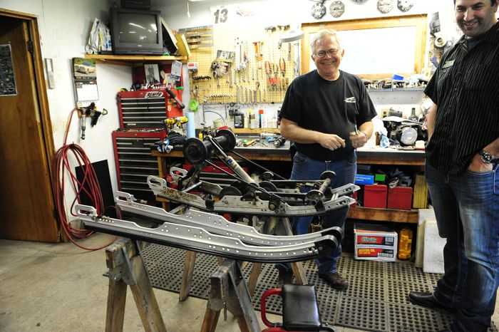 Inside John Anderson's perfect sled shop. Photo by ArcticInsider.com