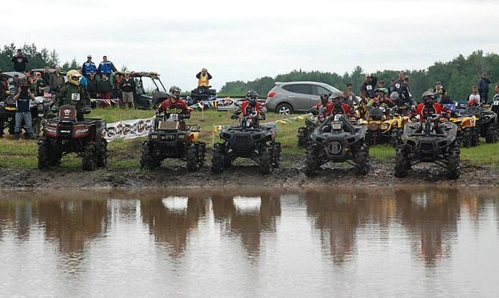 Mike Poolman, Arctic Cat ATV engineer and mud bogger (left)