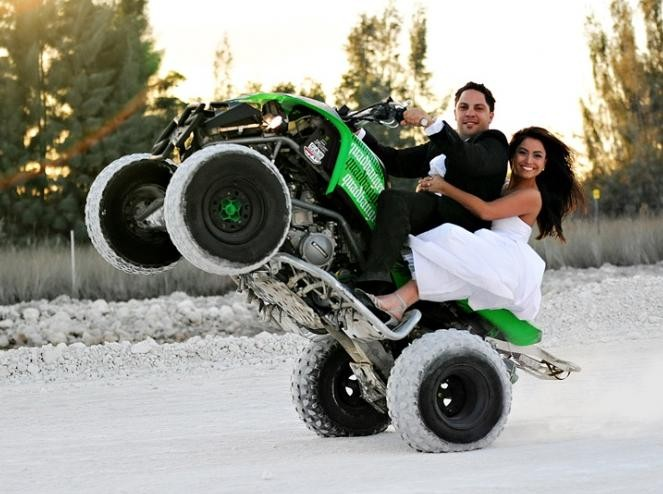 atv wheelie wedding tgif