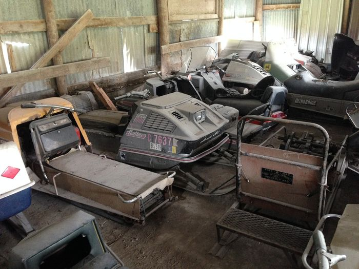 Vintage snowmobile barn find. Photo by ArcticInsider.com