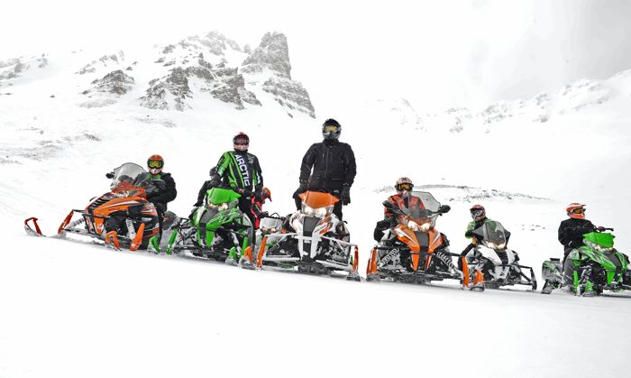 Riding 2015 Arctic Cats with Arctic Cat engineers. Photo by ArcticInsider.com