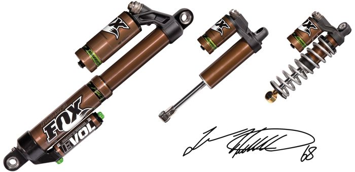 Tucker Hibbert Signature Series FOX SHOCKS for Arctic Cat snowmobiles.