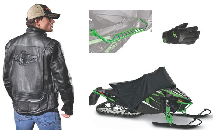New Arctic Cat snowmobile clothing and accessories.