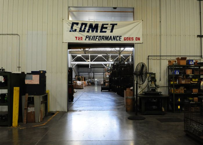 "The ""new"" Comet Clutch factory."