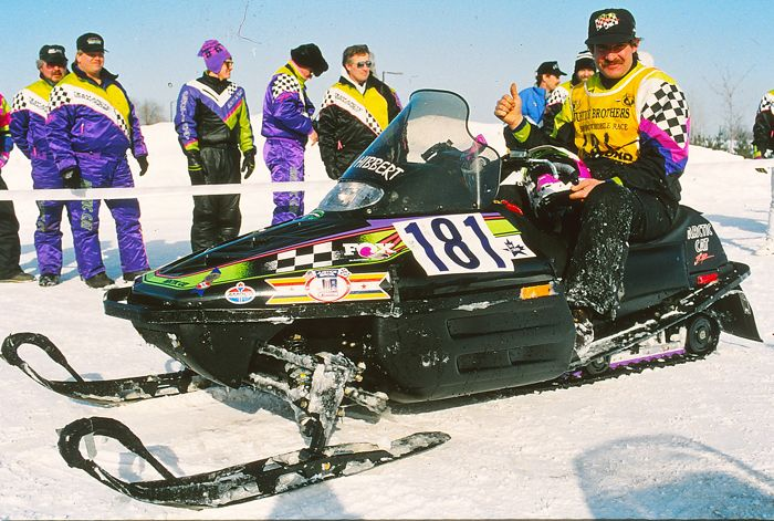 Kirk Hibbert at the finish of the 1993 I-500 cross-country. Photo by ArcticInsider.com