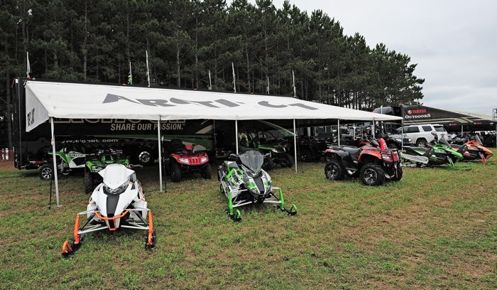 Arctic Cat factory display at Outlaws. Photo by ArcticInsider.com