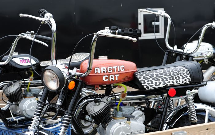 Arctic Cat mini bikes at the swap. ArcticInsider.com