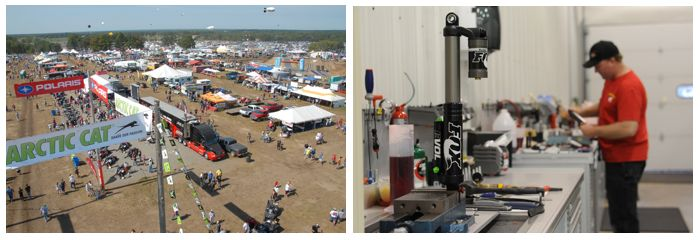 Visit the FOX SHOX booth at Hay Days. Photo by ArcticInsider.com