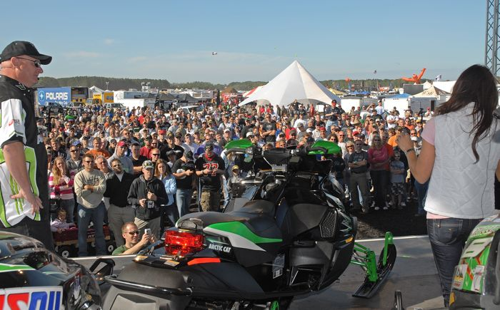 Arctic Cat unveils World's Fastest Snowmobile concept at Hay Days in 2008. Photo by ArcticInsider.com