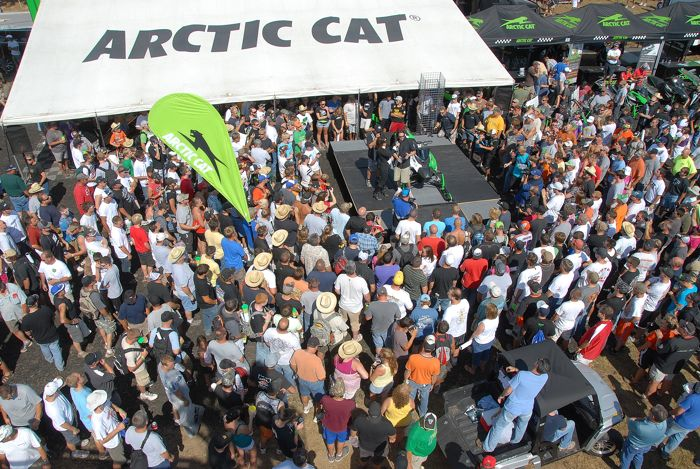 2012 Arctic Cat Race Sled unveil at Hay Days. Photo by ArcticInsider.com