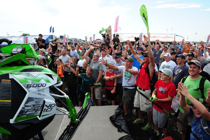 Arctic Cat unveils the 2015 M6000 Sno Pro at Hay Days. Photo by ArcticInsider.com