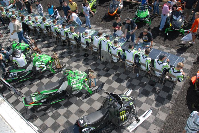 Team Arctic Cat autograph session at Hay Days. Photo by ArcticInsider.com