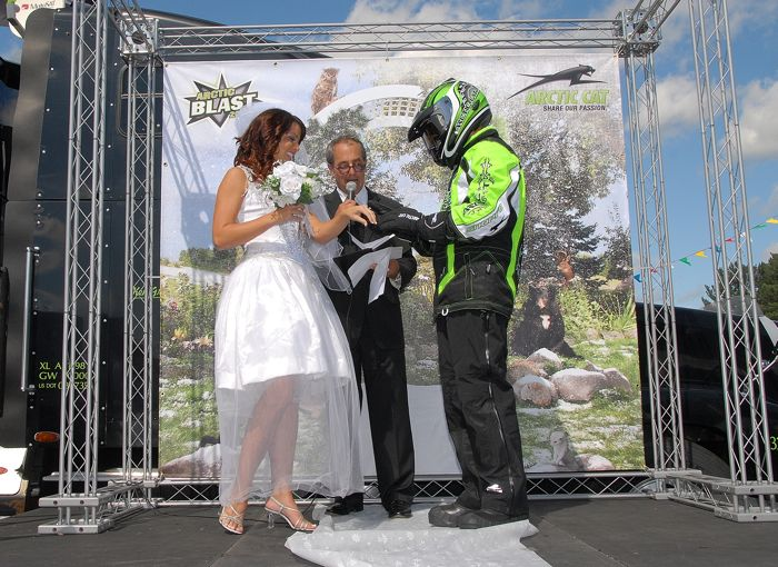 Arctic Cat Waiting For Winter guy marries Mother Nature. Photo ArcticInsider.com