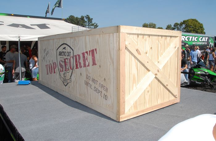 What's in the Top Secret box from Arctic Cat? Photo by ArcticInsider.com