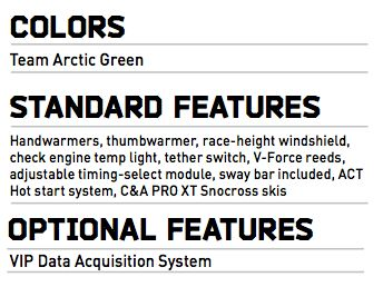 2015 Arctic cat ZR 6000R SX Specifications, by ArcticInsider.com