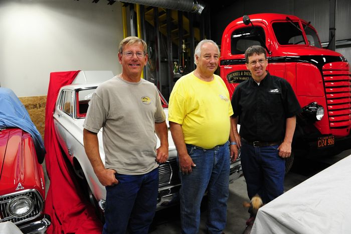 Gordon Rohde, former Arctic Cat dealer, with Dimmerman (left) and Rowland (right). Photo by ArcticInsider.com