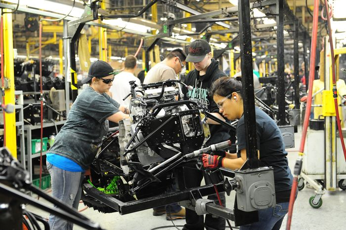 2015 Arctic Cat M7000 on the production line. Photo by ArcticInsider.com
