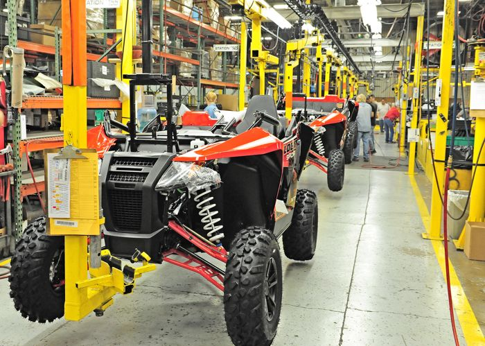 2015 Arctic Cat Wildcat Sport on the production line. Photo by ArcticInsider.com