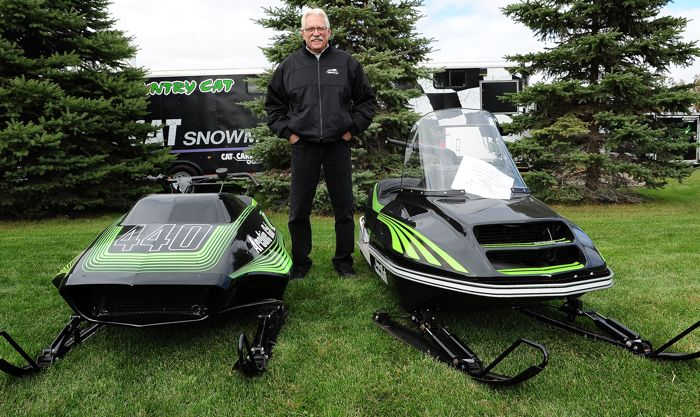 Rod Schultz, Arctic Cat vintage sled collector. Photo by ArcticInsider.com