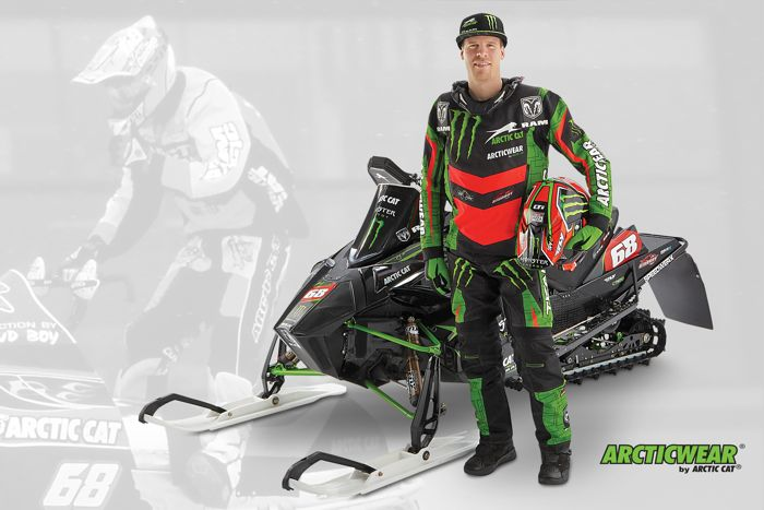 Tucker Hibbert is back wearing Arcticwear Race Gear from Arctic Cat. Photo posted by ArcticInsider.com