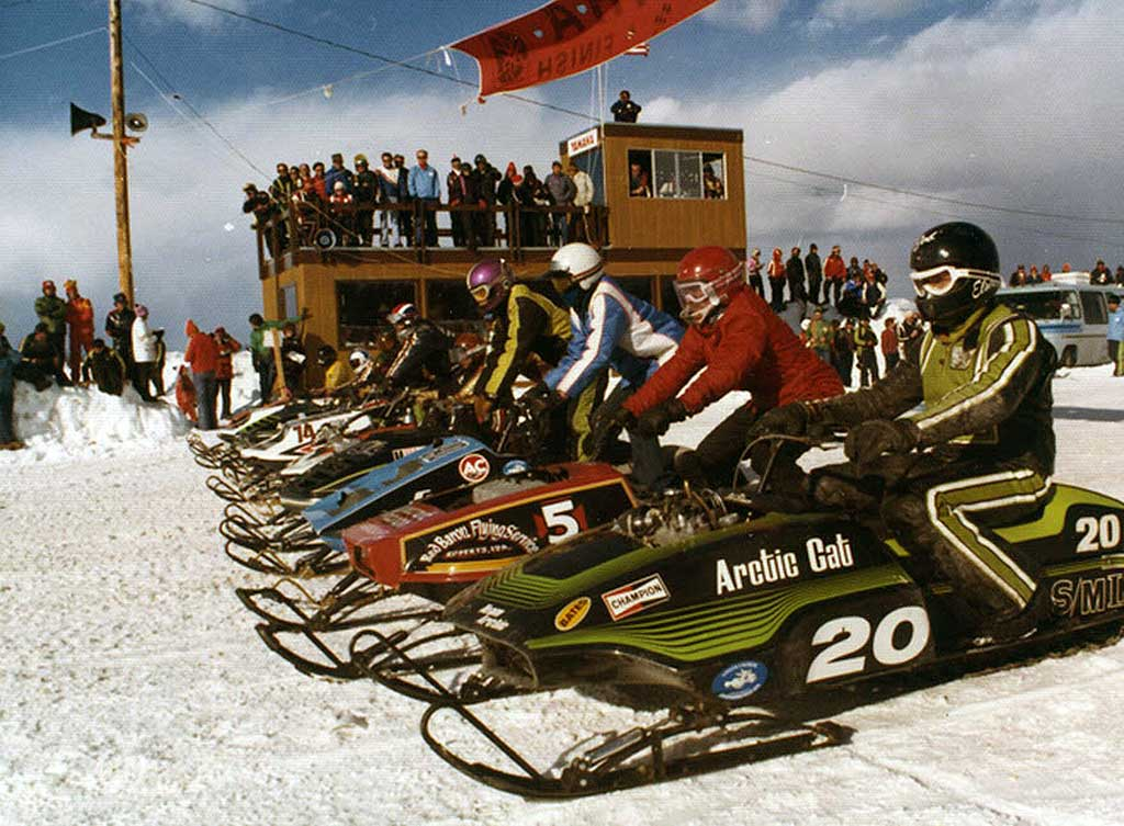 Bob Elsner in 1976 on Team Arctic Cat.