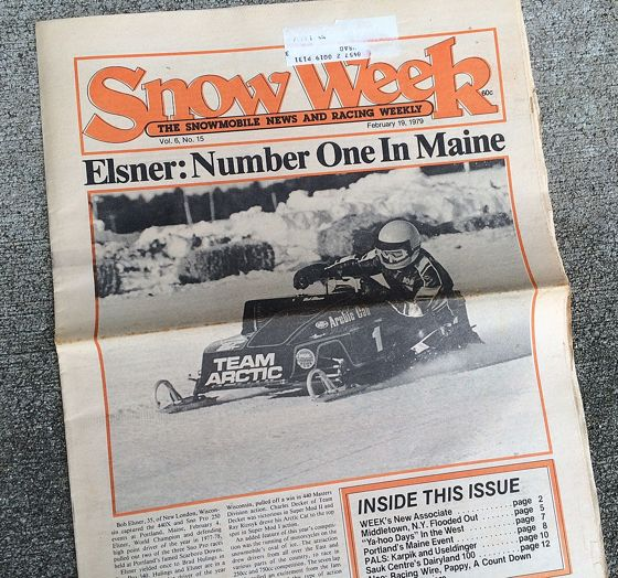 Bob Elsner cover of Snow Week magazine.
